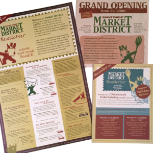 Market District — Directed the design and copywriting for all external grand opening marketing projects for this foodie-focused retail grocery banner. Completed while at Giant Eagle, Inc.