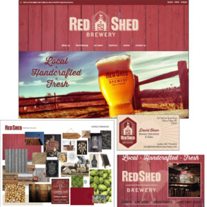 Red Shed Brewery – Began with an existing logo and developed the branding for a small brewery in upstate New York. Supported Red Shed Brewery with an initial website design, marketing materials, site signs, and more as they opened up a new, larger tap room.
